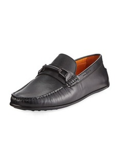 Donald J Pliner Imari Leather Bit Moc Loafer