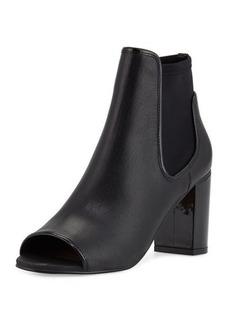 Donald J Pliner Irita Leather Open-Toe Bootie