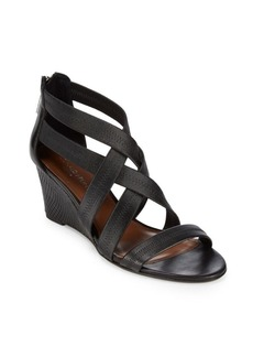 Donald J Pliner Jemi Leather Wedge Sandals