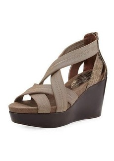 Donald J Pliner Jilli Canvas Wedge Sandal