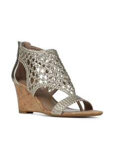 Donald J Pliner Joli Metallic Wedge Sandals