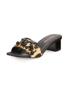 Donald J Pliner Maxx Jeweled Low-Heel Slide Sandal