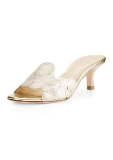 Donald J Pliner Mea Flower Kitten-Heel Sandal