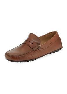 Donald J Pliner Men's Penny Moc Calf Leather Loafer