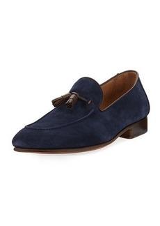 Donald J Pliner Men's Suede Leather-Tassel Slip-On