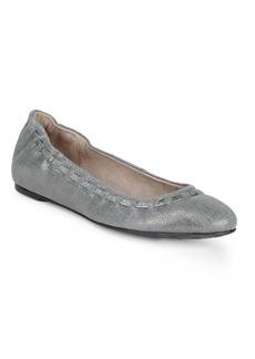 Donald J Pliner Metallic Suede Ballet Flats