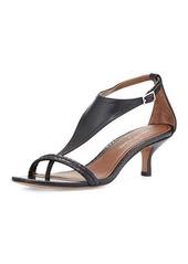 Donald J Pliner Monti Leather & Snake T-Strap Sandal