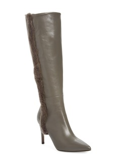 Donald J Pliner Rafela Genuine Mink Fur Trim Boot (Women)