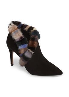 Donald J Pliner Renata Genuine Mink Fur Trim Bootie (Women)
