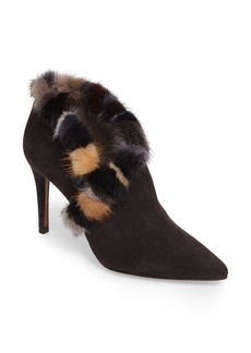 Donald J Pliner Renata Genuine Mink Fur Trim Bootie (Women)
