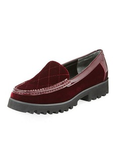 Donald J Pliner Renee Velvet Lug-Sole Loafer