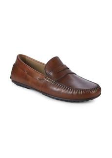 Donald J Pliner Sander Leather Penny Loafers