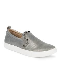 Donald J Pliner Selene Leather Slip-On Sneakers
