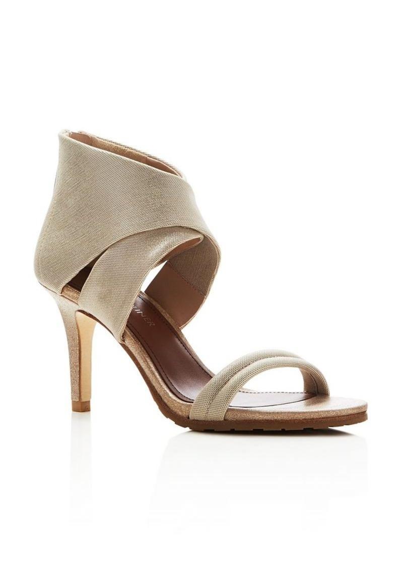 Donald J Pliner Tilly Metallic Ankle Wrap Open Toe Sandals