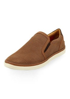 Donald J Pliner Travis Perforated Nubuck Slip-On Sneaker