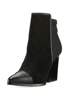 Donald J Pliner Valdez Quilted Mixed Bootie