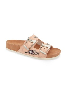 Donald J Pliner Donald Pliner Baylie Embroidered Slide Sandal (Women)