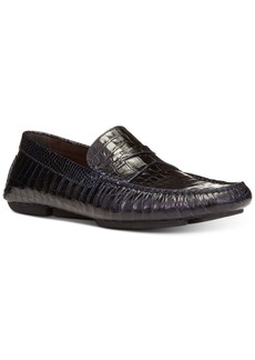 Donald J Pliner Donald Pliner Men's Vinco Croc-Embossed Penny Drivers Men's Shoes