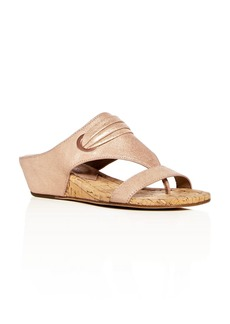 Donald J Pliner Donald Pliner Women's Dionne Leather Demi Wedge Thong Sandals