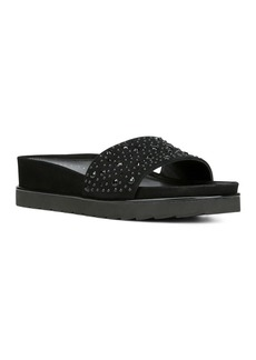 Donald J Pliner Donald Pliner Women's Leather Platform Wedge Slide Sandals