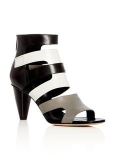 Donald J Pliner Donald Pliner Women's Paula Leather Color-Block High-Heel Sandals