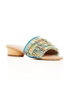 Donald J Pliner Donald Pliner Women's Reise Fringe Slide Sandals