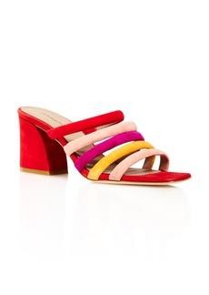Donald J Pliner Donald Pliner Women's Wes Color-Block Suede High-Heel Slide Sandals - 100% Exclusive