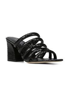 Donald J Pliner Donald Pliner Women's Wes Snake Embossed Leather Block Heel Slide Sandals