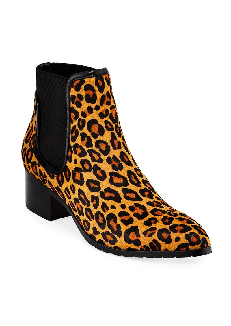 Donald J Pliner Dyla Leopard-Print Calf Hair Booties