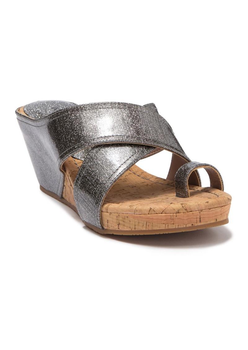 Donald J Pliner Geea Metallic Leather Sandal