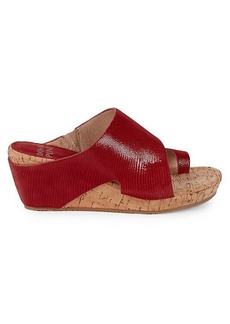Donald J Pliner Gretta Leather Wedge Sandals
