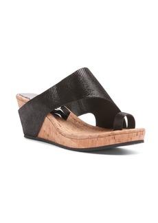 Donald J Pliner Gyer Leather Wedge Toe-Ring Sandals