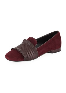 Donald J Pliner Haley Ruched Flat Loafers