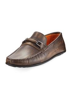 Donald J Pliner Imari Distressed Leather Loafer