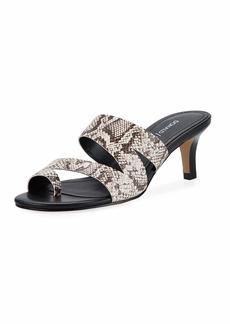 Donald J Pliner Klarisa Asymmetric Embossed Slide Sandals
