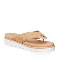 Donald J Pliner Leanne Cork Thong Sandals