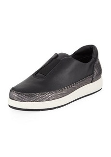 Donald J Pliner Meda Stretch Leather Sneakers