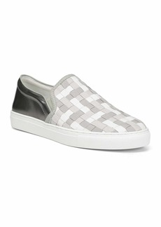 Donald J Pliner Men's Albin Woven Leather Slip-On Sneakers