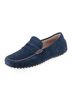 Donald J Pliner Men's Penny Moc Suede Loafer