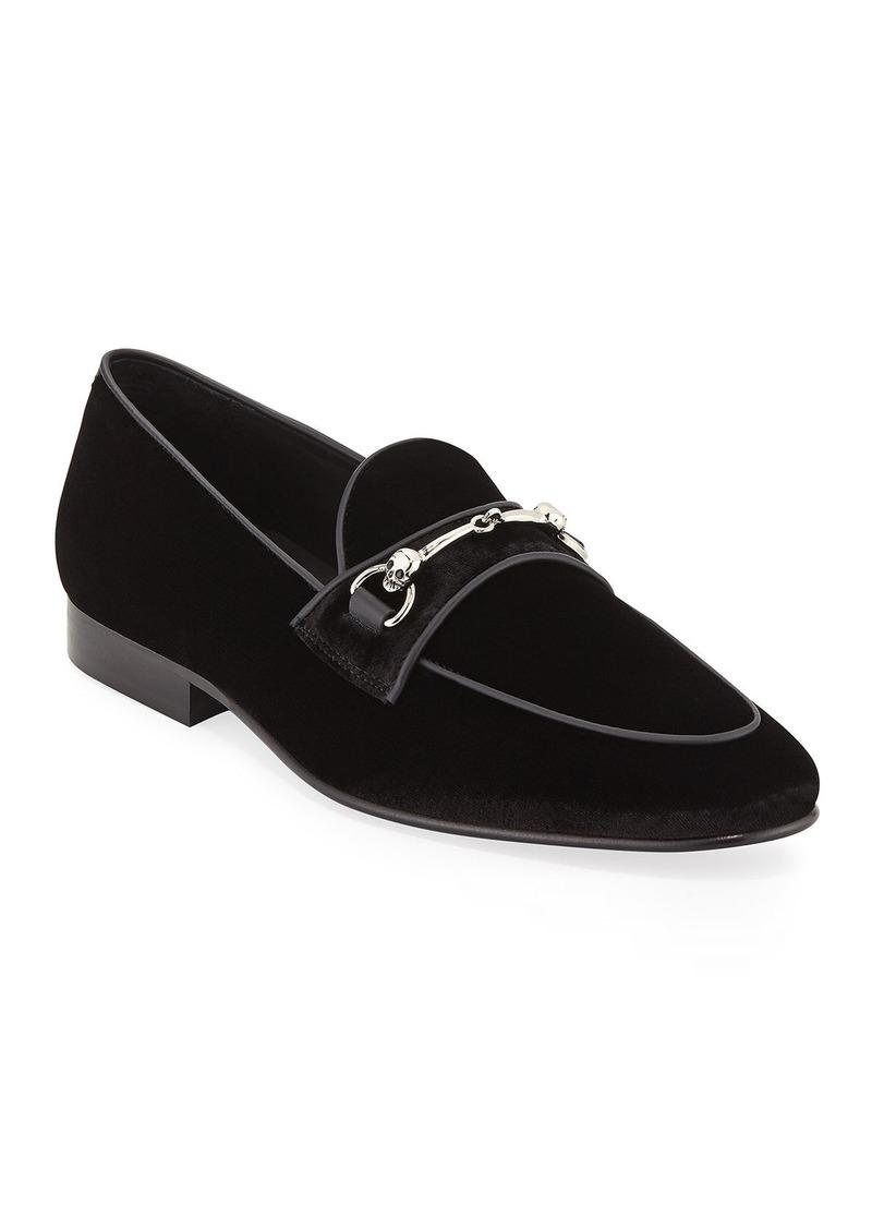 Donald J Pliner Men's Velvet Slip-On Loafers