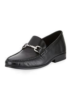 Donald J Pliner Niles Lizard-Embossed Leather Horsebit Loafer