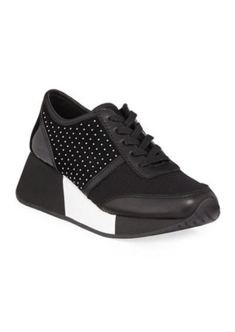 Donald J Pliner Payce Micro Stud Suede Wedge Sneakers
