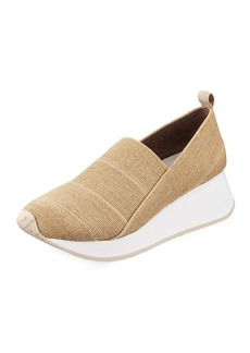 Donald J Pliner Piper Stretch Linen Slip-On Sneakers