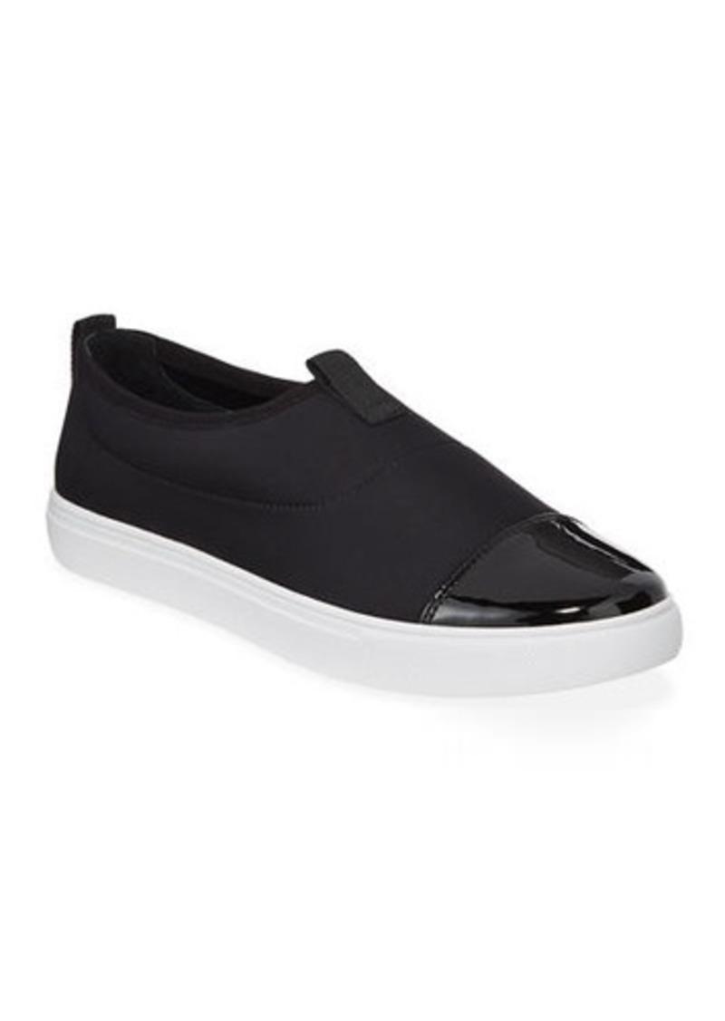 Donald J Pliner Syla Cap-Toe Crepe Sneakers