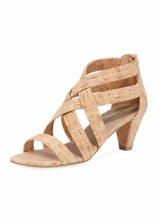 Donald J Pliner Vida Stretch Cork Sandals