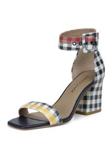 Donald J Pliner Watson Multi-Gingham Block-Heel Sandals