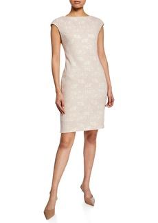 Donna Ricco Bonded Lace Sheath Dress