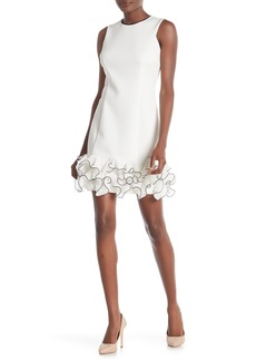 Donna Ricco Chiffon Ruffle Sleeveless Dress