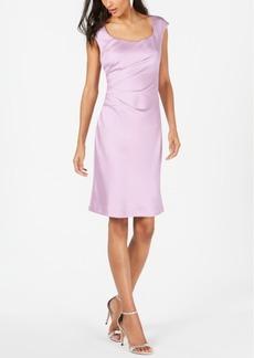 Donna Ricco Boat-Neck Shift Dress