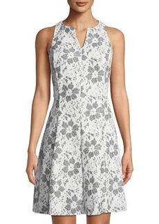 Donna Ricco Bonded Lace Sleeveless Dress